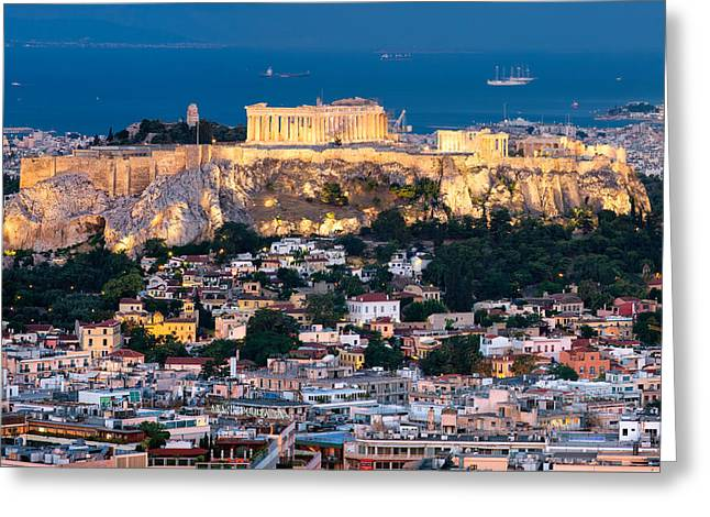Mesta Greeting Cards - The Parthenon Greeting Card by Emmanuel Panagiotakis