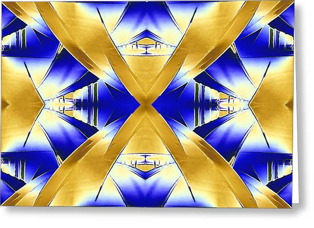 Geometric Design Greeting Cards - The Passageway Greeting Card by Tim Allen