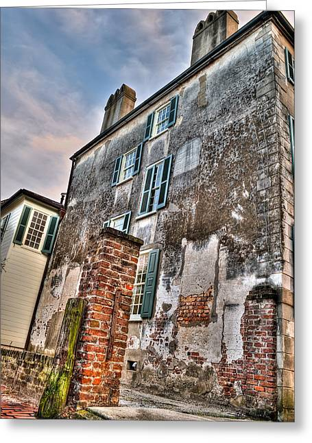 Old Street Greeting Cards - The Past Revealed Greeting Card by Andrew Crispi