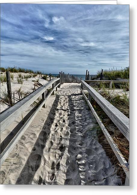 Long Beach Island Greeting Cards - The Path Greeting Card by Louis Dallara