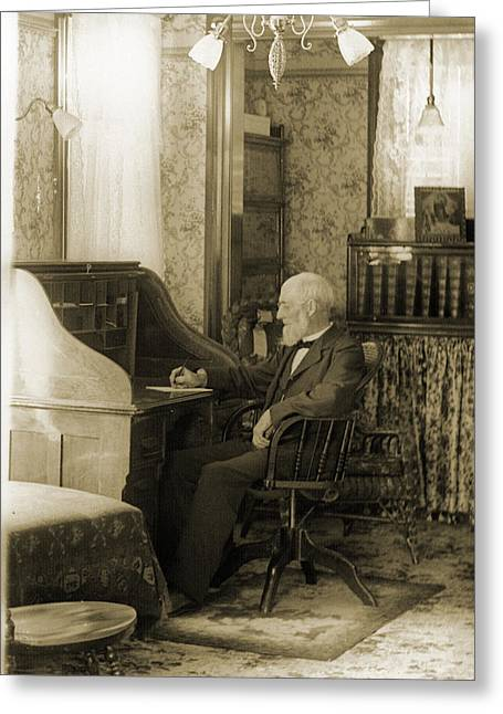 Historic Home Greeting Cards - The Patriarch Greeting Card by Jan Faul