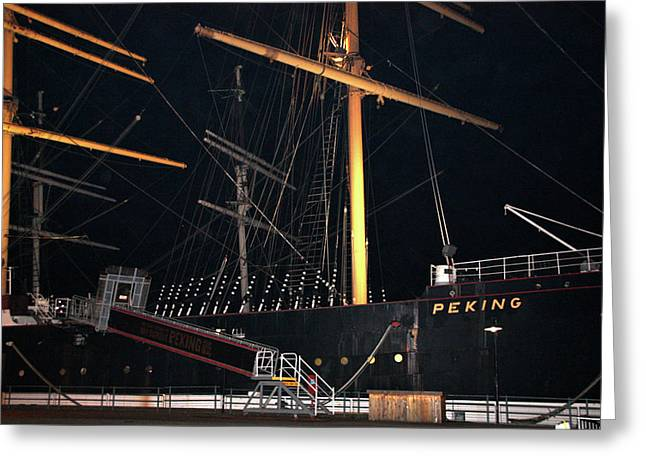 Masts Greeting Cards - The Peking Greeting Card by Terry Wallace