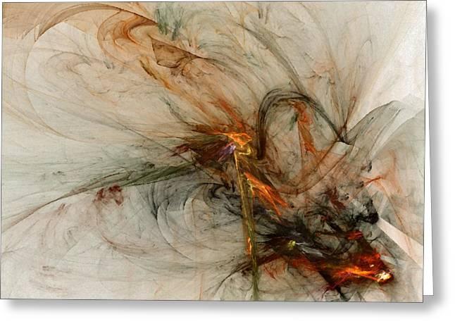Forgiveness Digital Art Greeting Cards - The Penitent Man - Fractal Art Greeting Card by NirvanaBlues