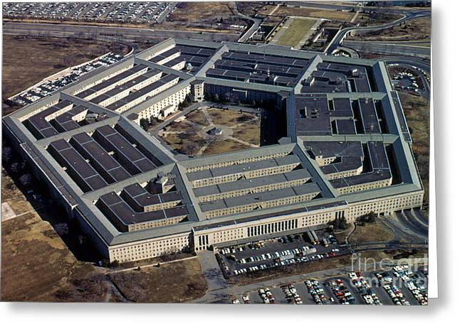 Pentagon Greeting Cards - The Pentagon Greeting Card by Photo Researchers