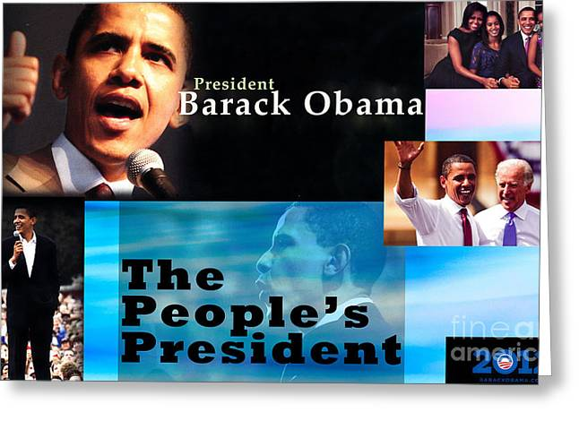 Michelle Obama Photographs Greeting Cards - The Peoples President Greeting Card by Terry Wallace