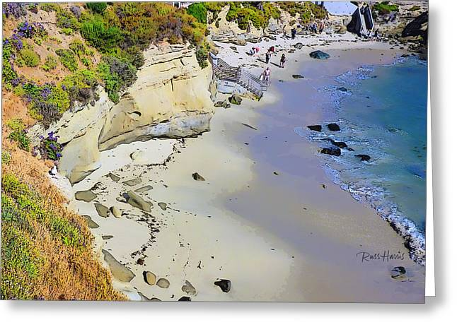 La Jolla Art Greeting Cards - The Perfect Beach La Jolla Greeting Card by Russ Harris