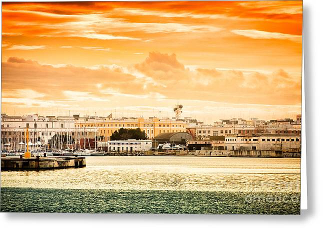 Italian Sunset Greeting Cards - The perfect sunset Greeting Card by Gabriela Insuratelu