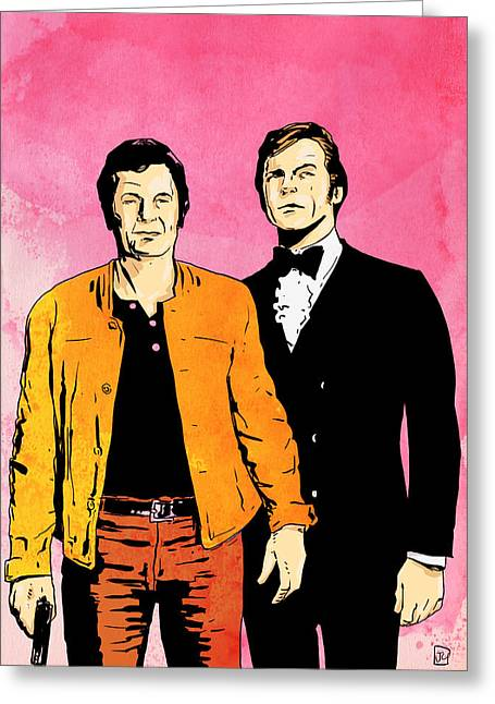 The Drawings Greeting Cards - The Persuaders Greeting Card by Giuseppe Cristiano