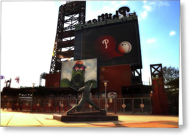 Citizens Bank Digital Art Greeting Cards - The Phillies - Steve Carlton Greeting Card by Bill Cannon