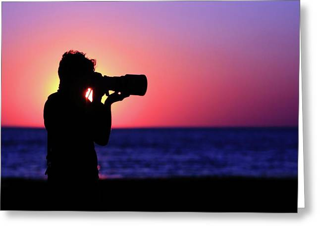 Cape Cod Massachusetts Greeting Cards - The Photographer Greeting Card by Rick Berk