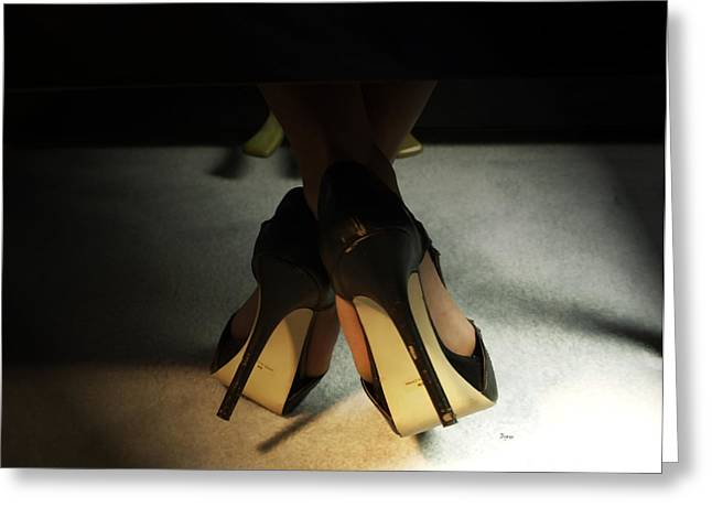 Sexy Shoes Greeting Cards - The Piano Crossing  Greeting Card by Steven  Digman