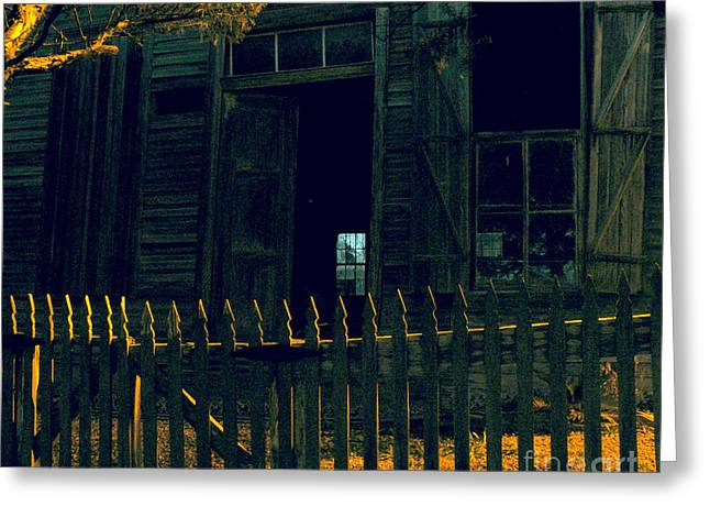 Crooked Fence Greeting Cards - The Picket Boundary Greeting Card by Joe Jake Pratt