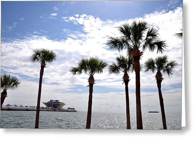 The Pier - St. Petersburg Greeting Card by Bill Cannon