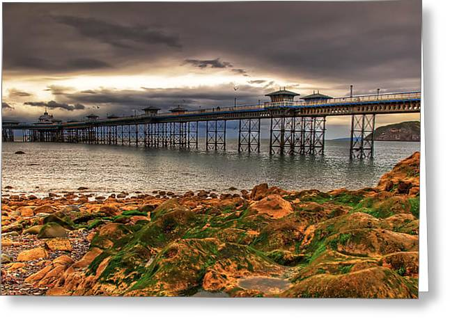 The Pier Greeting Card by Adrian Evans