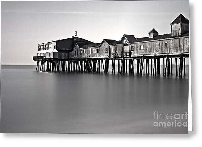 Vacationland Greeting Cards - The Pier Greeting Card by Brenda Giasson