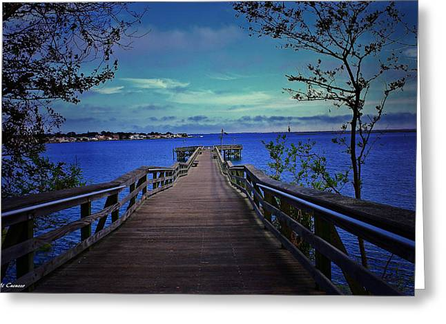 Mikki Cucuzzo Greeting Cards - The Pier Greeting Card by Mikki Cucuzzo