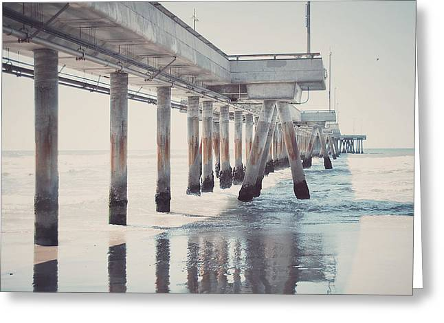 California Art Greeting Cards - The Pier Greeting Card by Nastasia Cook