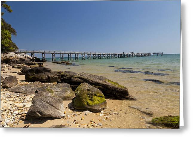 Best Sellers -  - Demoiselles Greeting Cards - The Pier On The Sea 2 Greeting Card by Stephane Grossin