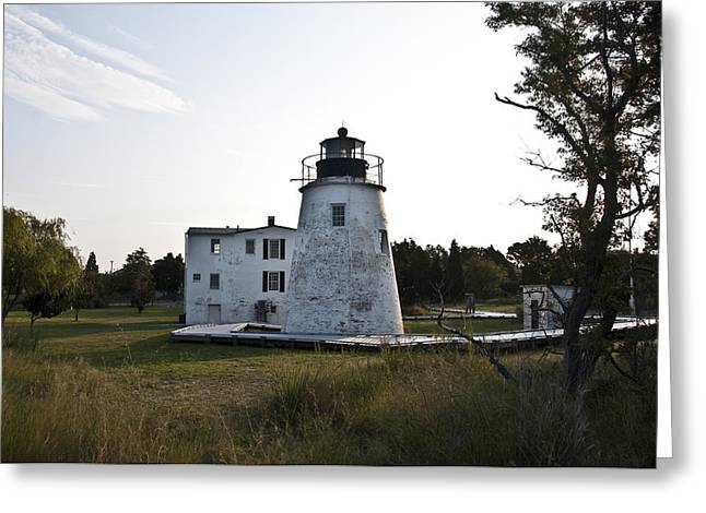 St. George Island Greeting Cards - The Piney Point Lighthouse Greeting Card by Bill Cannon