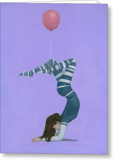 Lilac Greeting Cards - The Pink Balloon II Greeting Card by Steve Mitchell