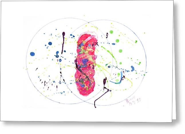 Cocoon Mixed Media Greeting Cards - The Pink Cocoon Greeting Card by Rebecca Barnes