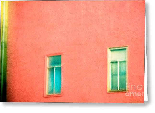 Surreal Geometric Greeting Cards - The Pink Wall. Greeting Card by Emilio Lovisa