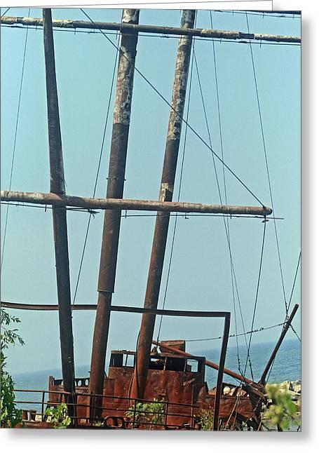 Jordan Wall Art Greeting Cards - The pirate Ship 4 Greeting Card by Cyryn Fyrcyd
