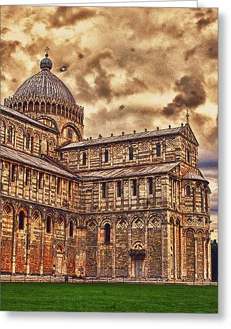 Landscapes Of Tuscany Greeting Cards - The Pisa Cathedral Greeting Card by Tom Prendergast