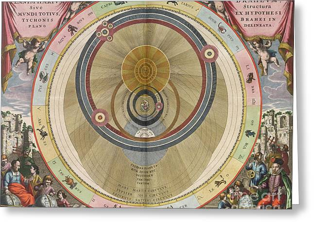 Macrocosmica Greeting Cards - The Planisphere Of Brahe Harmonia Greeting Card by Science Source