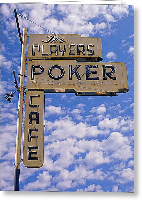 Ventura California Greeting Cards - The Players Poker Cafe Greeting Card by Ron Regalado