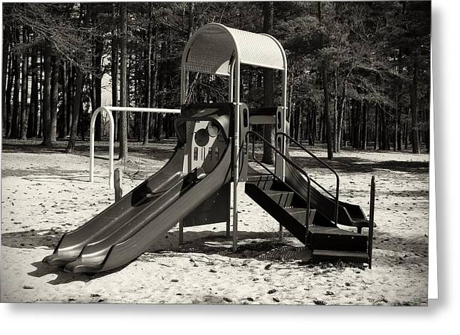 Slide Prints Greeting Cards - The Playground II - Ocean County Park Greeting Card by Angie Tirado