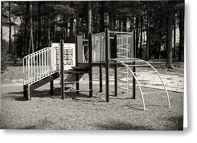 Slide Prints Greeting Cards - The Playground III - Ocean County Park Greeting Card by Angie Tirado