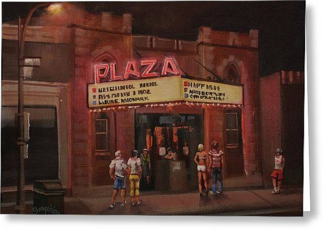 Haunted House Paintings Greeting Cards - The Plaza Greeting Card by Tom Shropshire