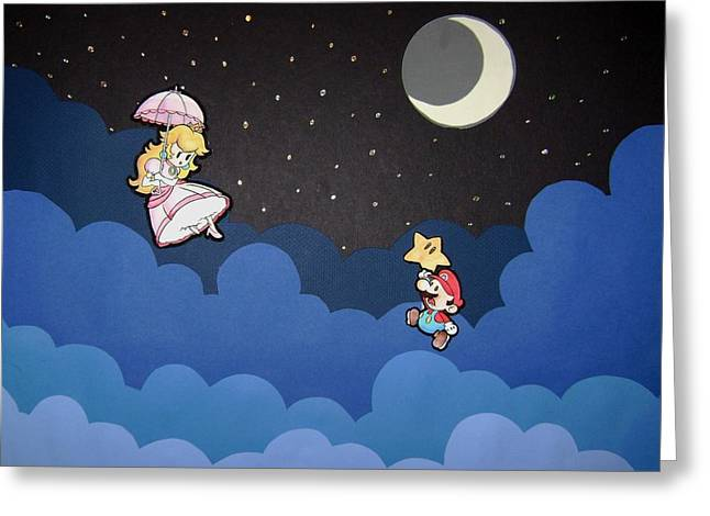Card Stock Greeting Cards - The Plumber and the Princess Greeting Card by Kenya Thompson