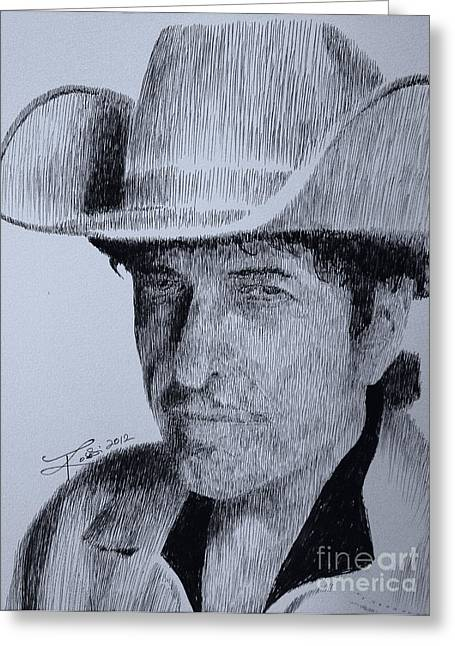 Robbi Musser Pen And Ink Greeting Cards - The Poet Greeting Card by Robbi  Musser