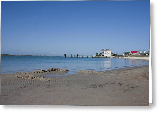 Topsail Island Greeting Cards - The Point Greeting Card by Betsy A  Cutler