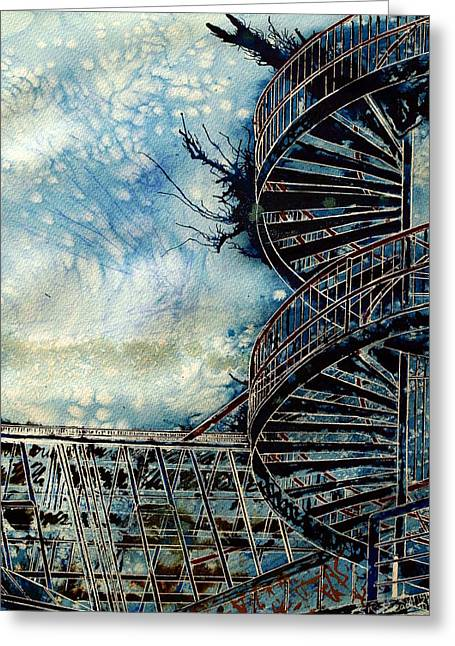 Milton Keynes Greeting Cards - The Point of Steps Greeting Card by Cathy S R Read