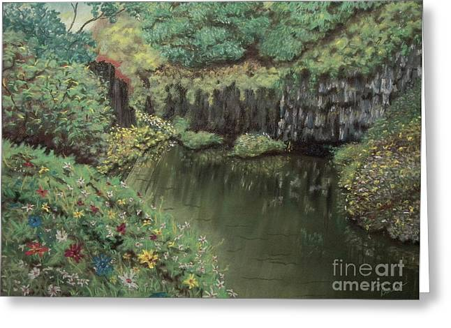 The Pond Greeting Card by Jim Barber Hove