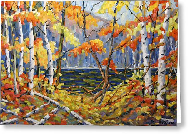 Birch Lake Greeting Cards - The Pool after Thompson by Prankearts Greeting Card by Richard T Pranke