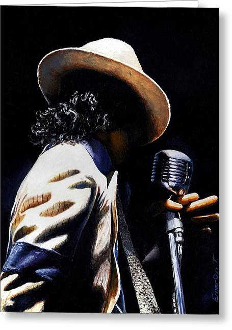 Michael Jackson Art Greeting Cards - The pop King Greeting Card by Emerico Imre Toth