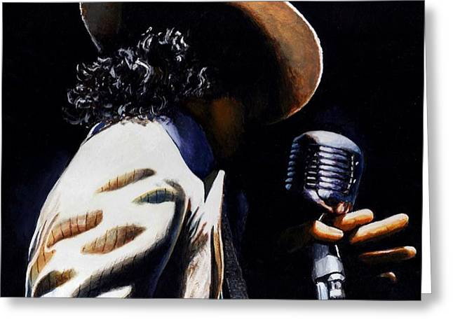 The pop King Greeting Card by Emerico Imre Toth
