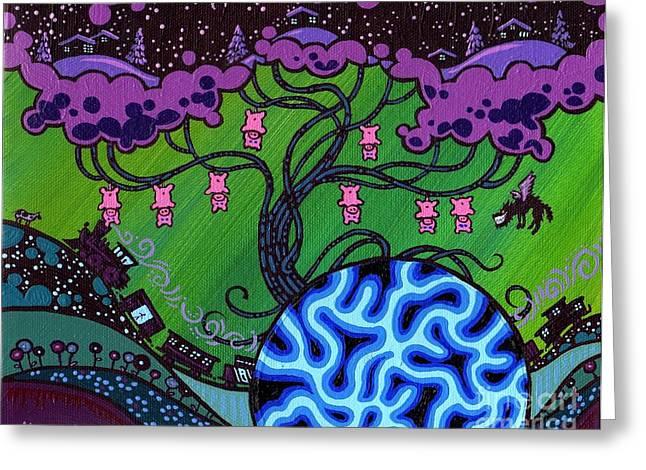 Pork Greeting Cards - The Pork Tree Greeting Card by Dan Keough