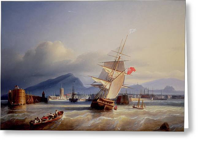 The Port Of Leith Greeting Card by Paul Jean Clays