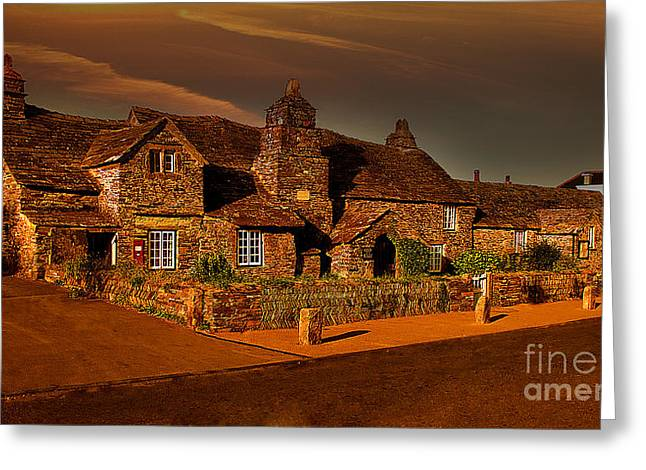 Tintagel Greeting Cards - The Post Office Greeting Card by Nigel Hatton