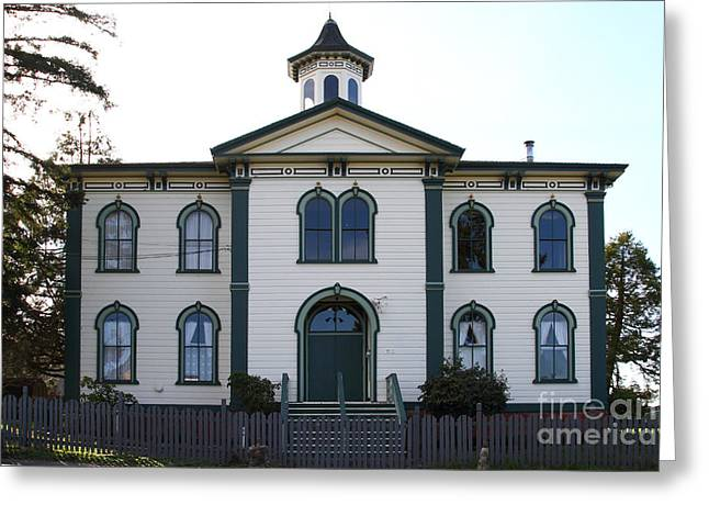 The Potter School House . Bodega Bay . Town Of Bodega . California . 7d12487 Greeting Card by Wingsdomain Art and Photography