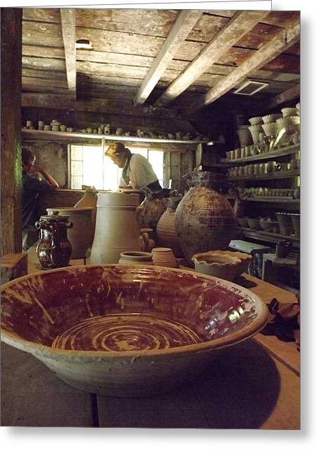 Pottery Pitcher Greeting Cards - The Potters Barn Greeting Card by Cathy Curreri