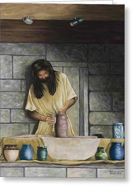 Eureka Paintings Greeting Cards - The Potters House Greeting Card by Mary Ann King