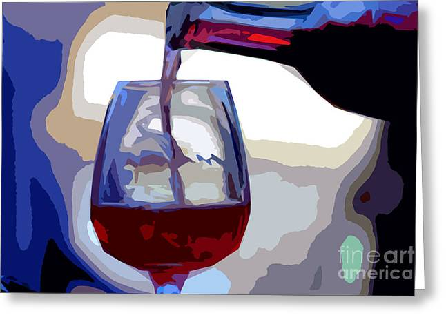 Wine Pour Greeting Cards - The Pour Greeting Card by Guy Shaham