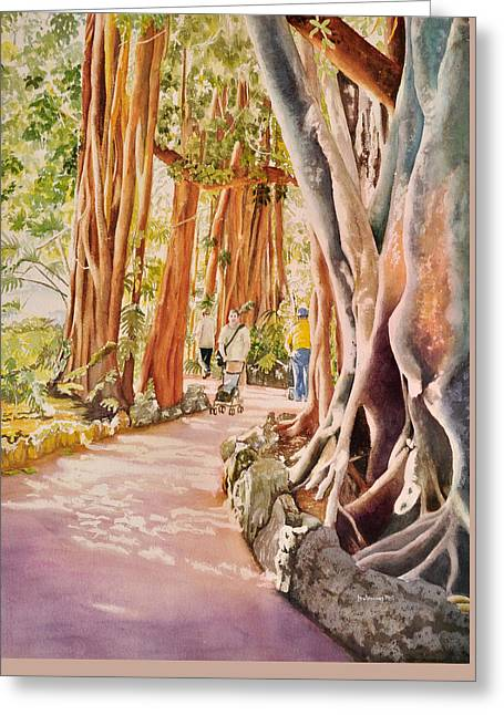The Power Of The Banyan Greeting Card by Terry Arroyo Mulrooney
