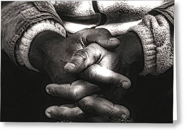 Praying Hands Photographs Greeting Cards - The Prayer Greeting Card by Kenneth Mucke